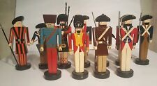 Folk Art Nutcracker's Toy Soldier Lot of 11. SIGNED HMS and # made in Arkansas