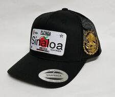 Sinaloa Mexico Hat Mesh Trucker Black Snap Back Adjustable New