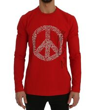Love Moschino T-shirt Red Motive Print Cotton Stretch Crew-neck S. XL