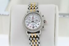 Michele CSX-36 Day Arabic Dial Two Tone Gold MOP Ladies Watch With Diamonds