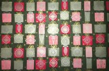Vtg Christmas Wrapping Paper Gift Wrap 1950 Ornaments Green Atomic Mcm Nos Cute