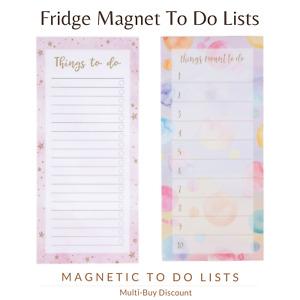 Notepad To Do List Reminder Tasks Planner Fridge Magnet Productivity Pad Board