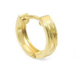 1x Männer Vario Scharnier Single Einzel- Creole Ohrring Echt Gold 333 Gelbgold
