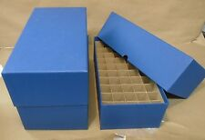 3 Round or square nickel coin tube storage box blue each holds 50 coin tubes