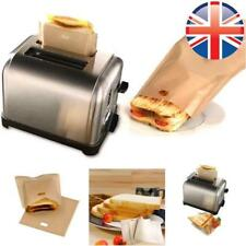 2 pack REUSABLE Toast Bags Pockets Toasty Toastabags Toaster Toastie Sandwich