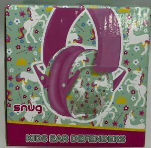 Snug Kids Earmuffs/Hearing Protectors Adjustable Headband Ear Defenders Unicorns