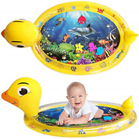 Tummy Time Water Mat Inflatable Baby Play Mat For 3+ Months Newborn Infants S...