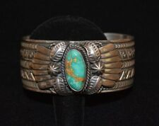 Bracelet Turquoise Pilot Mountain Sterling Silver Native American Navajo Reeves