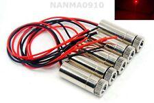 5pcs Focusable Adjustable 50mw 650nm Red DOT Ray Laser Diode Module 3V-5V