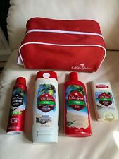 Men's Old Spice FiJI 4 Piece Gift Set with Travel / Dopp Bag NEW