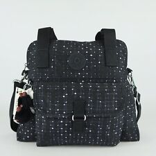 KIPLING PAHNEIRO Handbag Shoulder Crossbody Bag Tile Print Blue