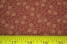 By 1/2 Yd, Tan on Dark-Red, Quilting, Kansas Troubles Quilters, Moda, M7102