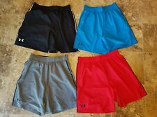 New Mens Under Armour Shorts Blue Red Gray Black M L XL 2XL Loose Running Active