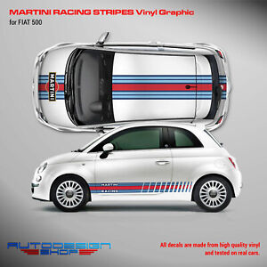 Martini Racing Stripes Graphic Decals Set for Fiat 500