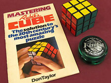 Rubik's Cube Old School and Rubik's Cube Book 1980's Bonus Yomega Fireball yoyo