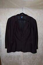 Gino Cappeli Blazer / Jacket - Black - 100% Polyester - 50R