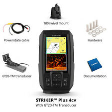 "NEW Garmin STRIKER Plus 4cv GT20-TM Transducer 4"" GPS 010-01871-00 Fish finder"