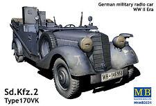 MASTERBOX GERMAN MILITARY RADIO CAR SD KFZ 2 TYPE 170VK WWII Scala 1:35 cod.3531