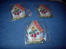 Mary Engelbreit Die Cut Ornaments/Tags Birdhouse W/Cherries -New-Set Of 3