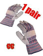 Schutz Schwerlast Rigger Handschuhe Leder Arbeit Safety Stulpenhandschuhe Garten