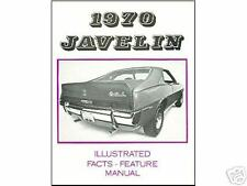 1970  70  AMC  JAVELIN/SST  FACTS & FEATURE MANUAL