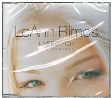 LeAnn Rimes ‎– I Need You (The Remixes)  CD Single, 2001 Nuevo Precintado