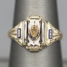 Vintage Rosary High School Class Ring in 10k Yellow Gold
