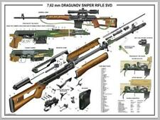 "Poster 24""x36"" Russian SVD Dragunov Sniper Rifle Manual Exploded Parts Diagram"