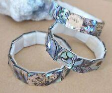 Abalone / Paua Muschel-Armband   15x15 mm------(Mai-4)
