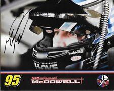 """SIGNED 2017 MICHAEL MCDOWELL """"LEAVINE HELMET SHOT"""" #95 MONSTER ENERGY POSTCARD"""