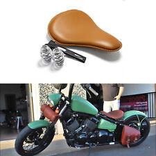 "Custom For Kawasaki Vulcan 800 Vulcan 750 Brown Leather Motorcycle Solo Seat 13"""