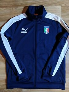 Puma FIGC Italian Football Federation Track Jacket Soccer Sweatshirt Italy Team