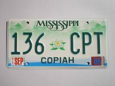 AUTHENTIC 2006 MISSISSIPPI LICENSE PLATE