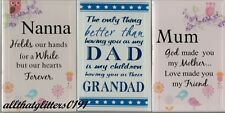 Stand Alone Plaque Gift For Mum, Auntie, Nanna, Dad, Grandad All The Family