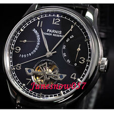 43mm Parnis black dial power reserve seagull Automatic movement men's watch P20