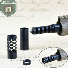 308 Muzzle Brake 5/8x24RH with 2pcs Spiral Cut Shroud and Crush Washer