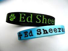 In Stock ED SHEERAN  Silicon // Rubber Wristband / Bracelet  2 Colours to Choose