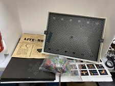 VINTAGE 1967 LITE BRITE LIGHT BRIGHT PEGS HASBRO TOY GAME BOX 5455 W SHEETS WORK