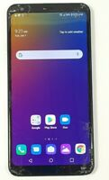 LG Stylo 5 LMQ720PS 32GB Silver (Boost Mobile) Cracked Glass GOOD IMEI