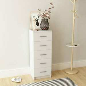 Tall Chest of Drawers Chipboard 41x35x106 cm White