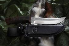 Russisches Messer, Jagdmesser A&R Zlatoust -- Clyk Leder