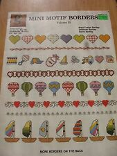Mini Motif Borders Volume 11 Cross stitch pattern  Mary Evelyn Bartley leaflet