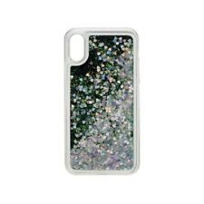 NL ON4777 Glamour backcover voor  iPhone X - zilver-groen glitters