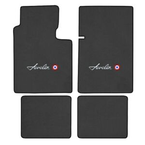 1970 -1974 Javelin Logo Cutpile Carpet Floor Mats - Choose Mat Color And Logo