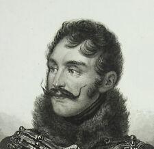 Charles lasalle général de l'empire c1840 Amédée MAULET Napoléon Bonaparte print