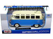 MAISTO 31956 VW VOLKSWAGEN VAN SAMBA BUS 1/25 DIECAST MODEL CAR BLUE CREAM