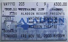 2000 Bobby Brown & Whitney Houston Ticket Stub 11/10/00 Aladdin Las Vegas, Nv.