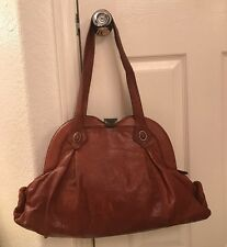 BCBG Max Azria Brown Leather Large Shoulder Bag