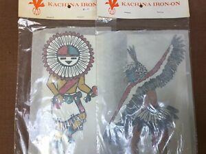 2 Vintage NOS Kachina Iron On Transfers