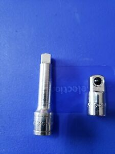 """SK TOOLS 1/4"""" DR 2"""" EXTENSION AND 1/4"""" TO 3/8"""" ADAPTER MADE IN USA CLEAN"""